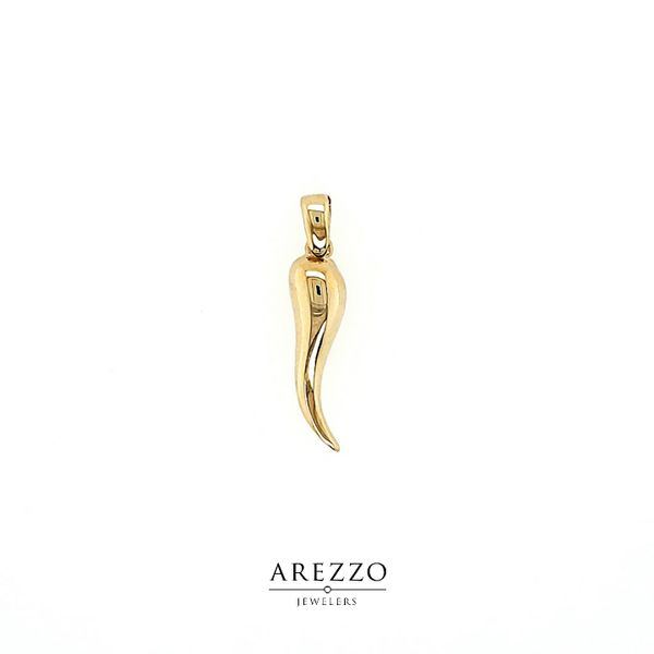 18k Yellow Gold Italian Horn Charm Arezzo Jewelers Chicago, IL