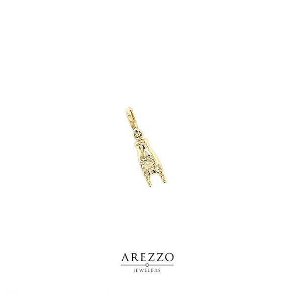 18k Yellow Gold Italian Hand - Corno Charm Arezzo Jewelers Chicago, IL