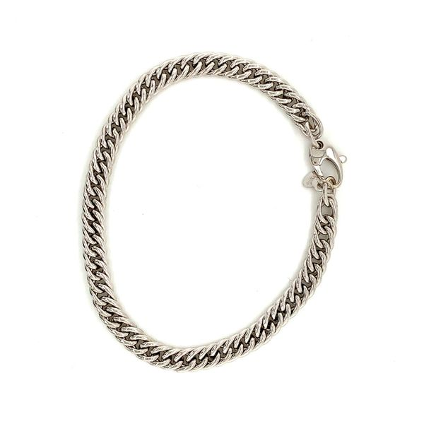 18k White Gold Polished Link Bracelet, 8