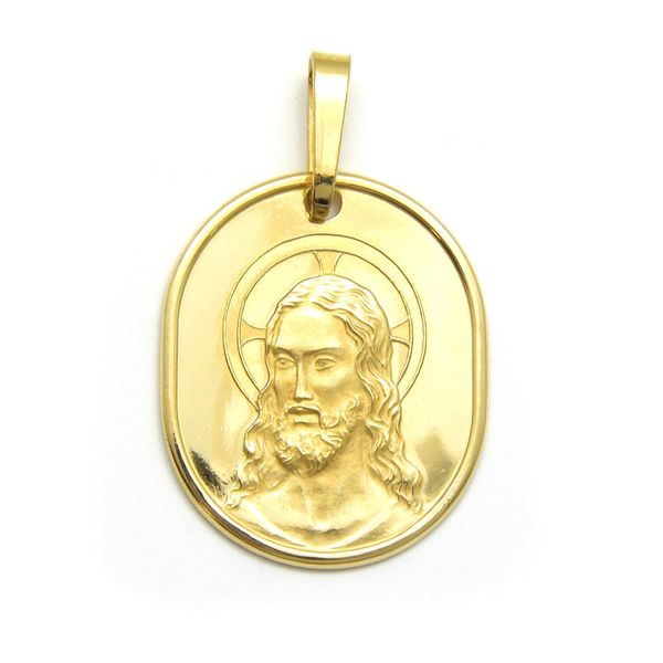 18k Yellow Gold Jesus Medal, 4.1gr Arezzo Jewelers Chicago, IL
