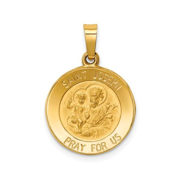 St Joseph Medal 14k Yellow Gold Arezzo Jewelers Chicago, IL