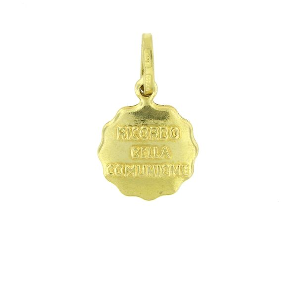14k Yellow Gold Communion Medal Image 2  ,
