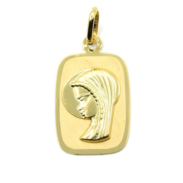 18k Yellow Gold Virgin Mary Medallion Arezzo Jewelers Chicago, IL