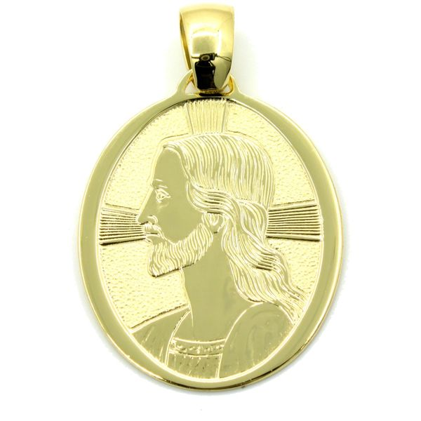 18k Yellow Gold Jesus Medal Arezzo Jewelers Chicago, IL