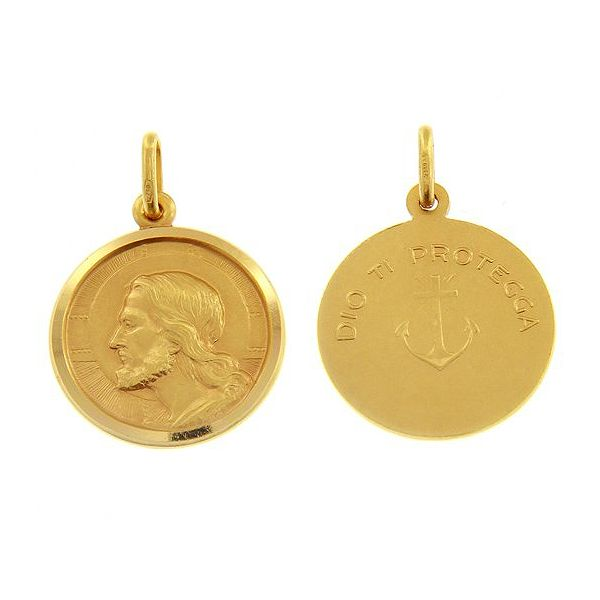18k Gold Jesus Medal Arezzo Jewelers Chicago, IL