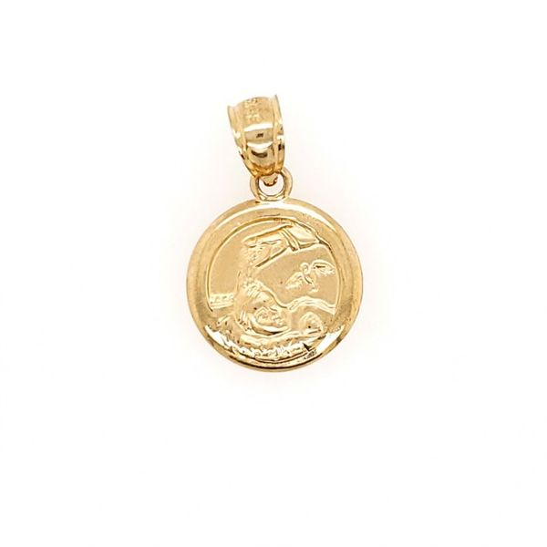 14k Yellow Gold Baptism Medal Arezzo Jewelers Chicago, IL