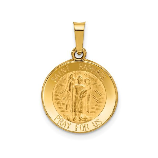 14k Gold St. Raphael Medal Pendant Arezzo Jewelers Chicago, IL