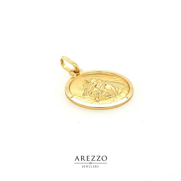 18k Yellow Gold St. Anthony Medal Image 2 Arezzo Jewelers Chicago, IL