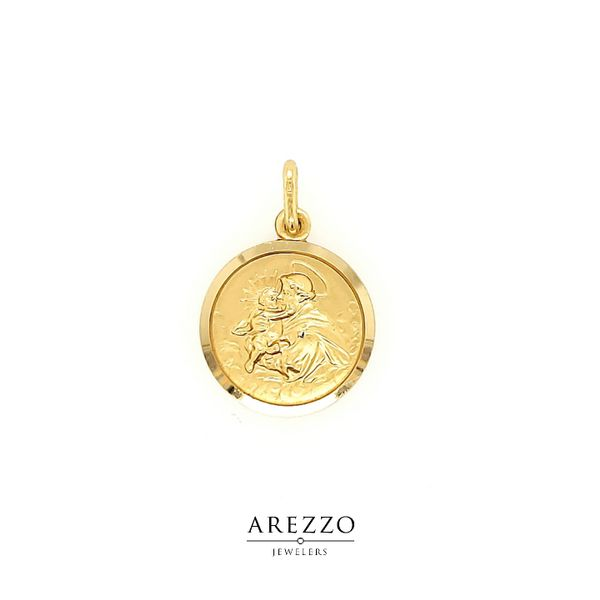 18k Yellow Gold St. Anthony Medal Arezzo Jewelers Chicago, IL