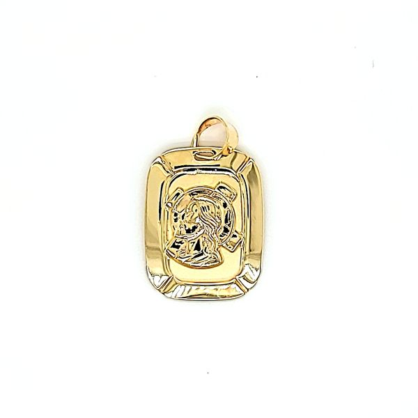 14k Yellow Gold Jesus Christ Medallion Arezzo Jewelers Chicago, IL