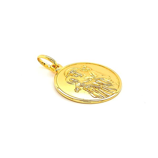 18k Yellow Gold St. Joseph Medal Image 3 Arezzo Jewelers Chicago, IL