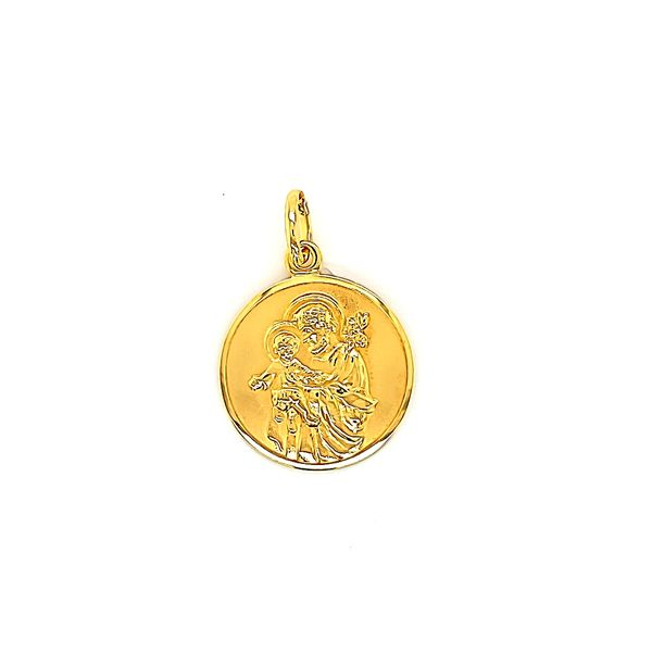 18k Yellow Gold St. Joseph Medal Arezzo Jewelers Chicago, IL