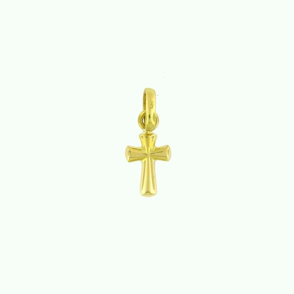 18K Yellow Petite Gold Cross Arezzo Jewelers Chicago, IL