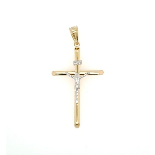 14k Two Tone Crucifix Cross Arezzo Jewelers Chicago, IL