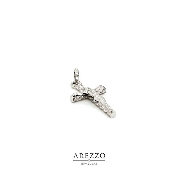 14k White Gold Crucifix Cross Image 2 Arezzo Jewelers Chicago, IL