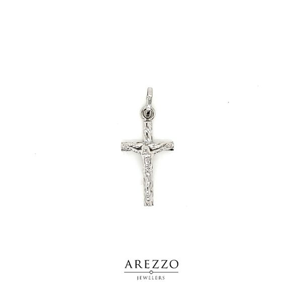 14k White Gold Crucifix Cross Arezzo Jewelers Chicago, IL