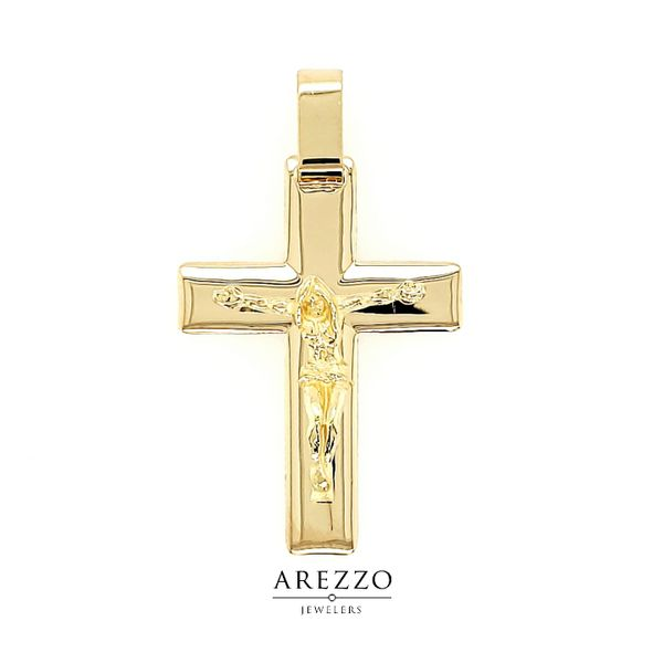 18k Yellow Gold Large Crucifix Arezzo Jewelers Chicago, IL