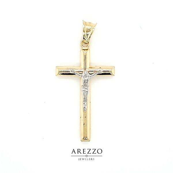 14k Two Tone Crucifix Arezzo Jewelers Chicago, IL