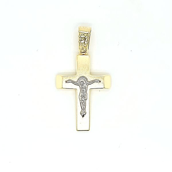 18k Two Tone Gold Crucifix Arezzo Jewelers Chicago, IL