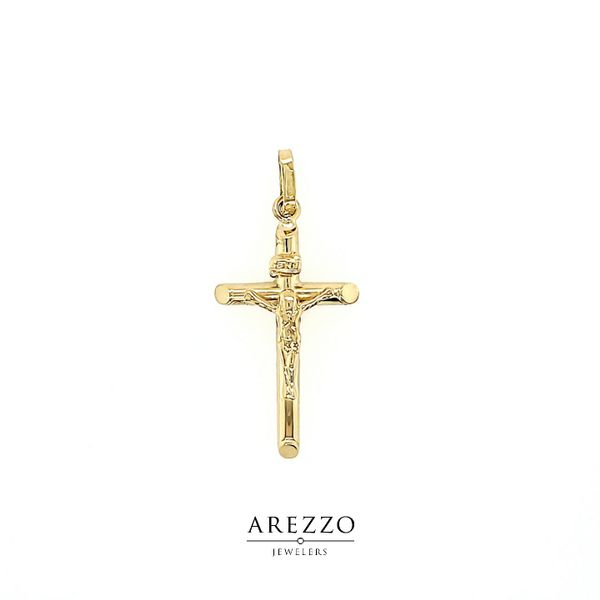18k Yellow Gold Crucifix - INRI Arezzo Jewelers Chicago, IL