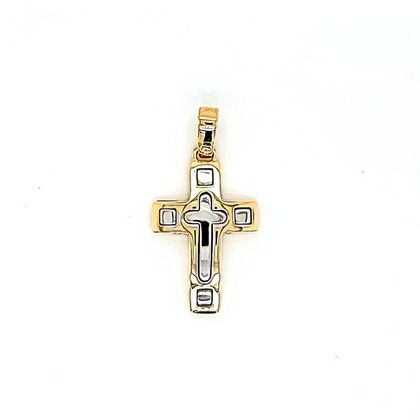 18k Two Tone Gold Cross Arezzo Jewelers Chicago, IL