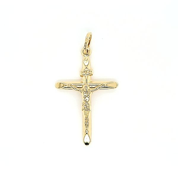 14 Karat Two Tone Gold Crucifix / Cross Arezzo Jewelers Chicago, IL