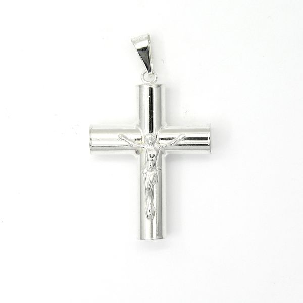 Sterling Silver Tube Cross Crucifix Arezzo Jewelers Chicago, IL