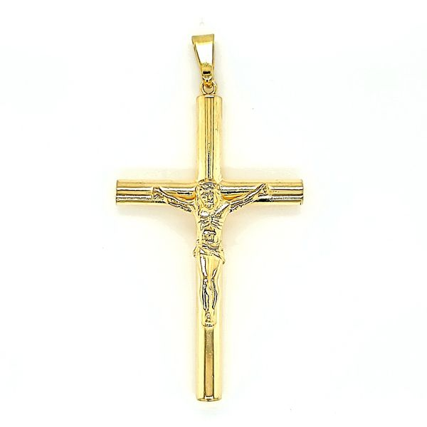 Yellow Gold Plated Silver Crucifix / Cross Arezzo Jewelers Chicago, IL