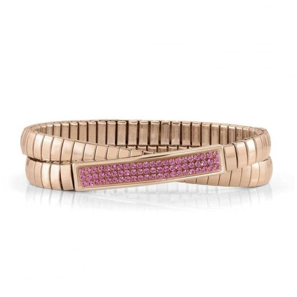 Nomination 22k Rose Colored Steel Adjustable Bracelet - XTE Arezzo Jewelers Chicago, IL