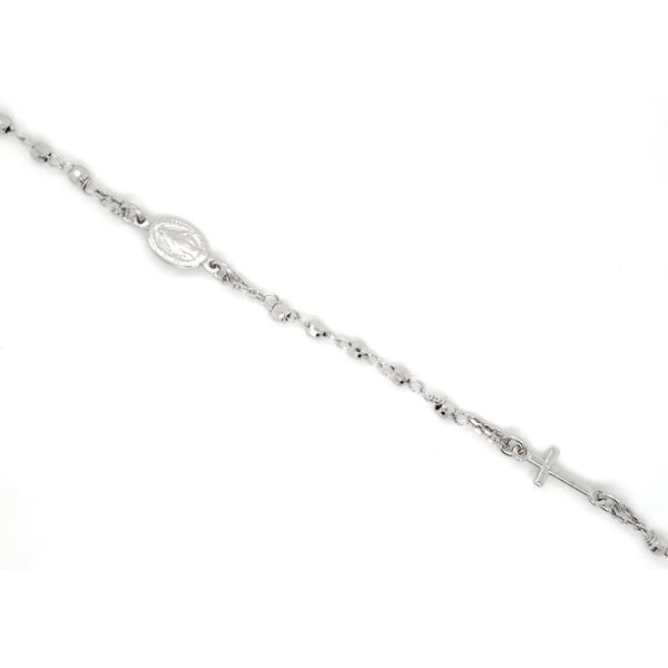 Sterling Silver Beaded Rosary Bracelet Image 2 Arezzo Jewelers Chicago, IL