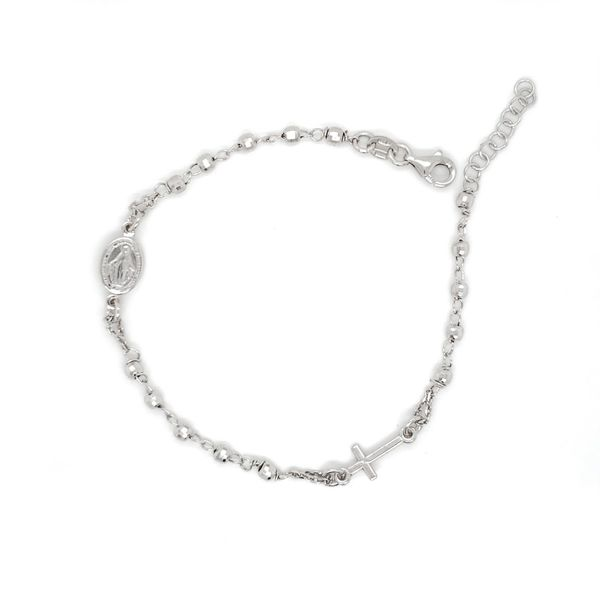 Sterling Silver Beaded Rosary Bracelet Arezzo Jewelers Chicago, IL
