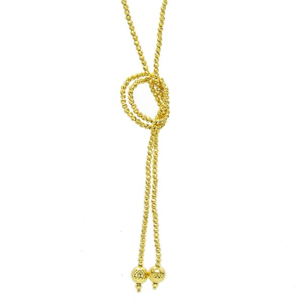 Silver Slash-cut Endless Yellow Lariat Necklace Arezzo Jewelers Chicago, IL