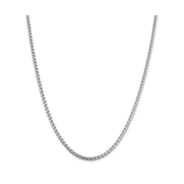 Sterling Silver 3.6mm Round Box Chain, 20