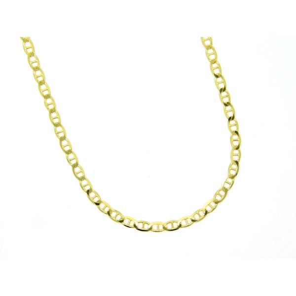 925 Silver Gold Plated Anchor Chain, 24