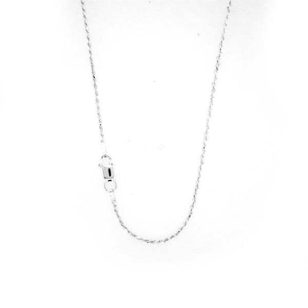 Sterling Silver Diamond Cut Rope Chain Image 2 Arezzo Jewelers Chicago, IL