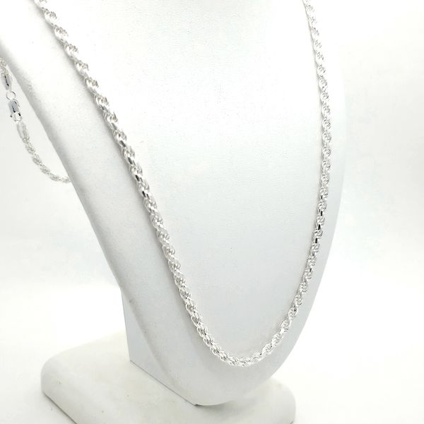 Silver 6.5mm D/C Rope Chain - 30