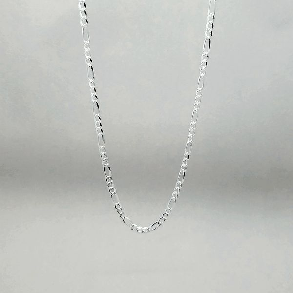 Silver 4mm Figaro Link Chain Arezzo Jewelers Chicago, IL