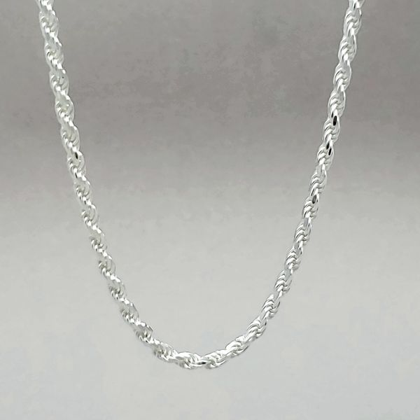 Sterling Silver 2.5mm Diamond Cut Rope Chain Image 2 Arezzo Jewelers Chicago, IL