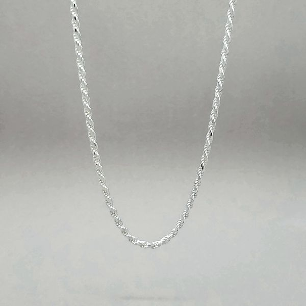 Sterling Silver 2.5mm Diamond Cut Rope Chain Arezzo Jewelers Chicago, IL