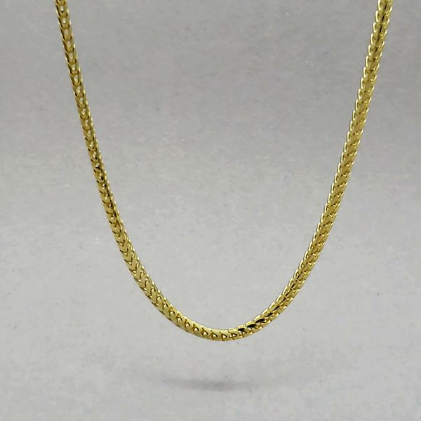 Sterling Silver 1.8mm Gold Plated Franco Chain Image 2 Arezzo Jewelers Chicago, IL
