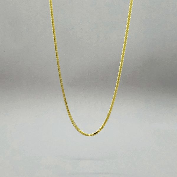Sterling Silver 1.8mm Gold Plated Franco Chain Arezzo Jewelers Chicago, IL