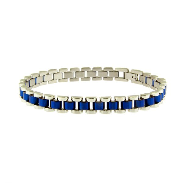 Steel Blue Rolex Style Bracelet Arezzo Jewelers Chicago, IL