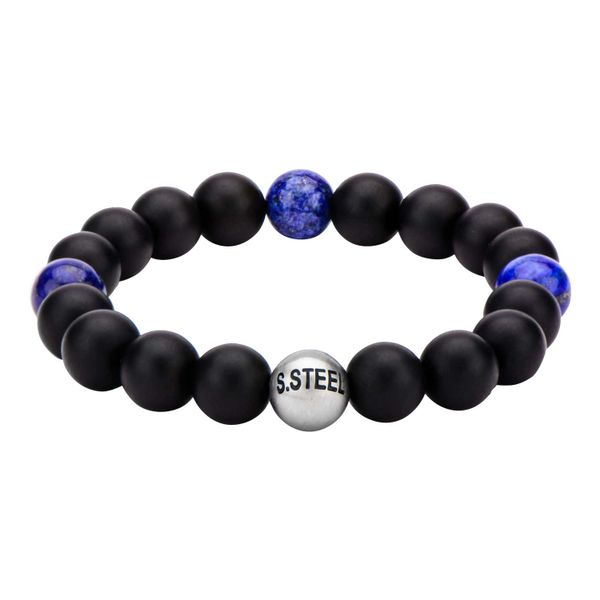 Lapis & Black Onyx Beads Bracelet Arezzo Jewelers Chicago, IL