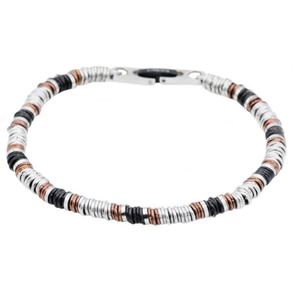 Chocolate And Black Plated Stainless Steel Chain Bracelet Arezzo Jewelers Chicago, IL