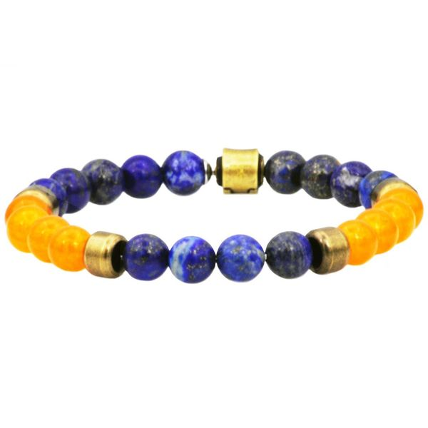 Lapis Lazuli And Carnelian Beaded Bracelet Arezzo Jewelers Chicago, IL