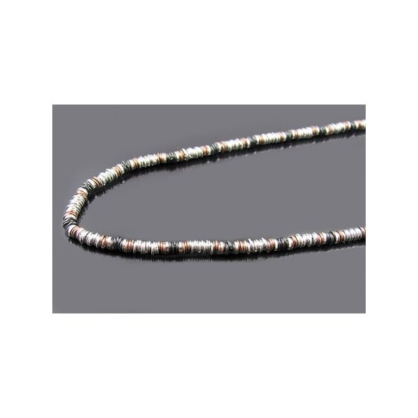 Mens tri colored stainless steel necklace Arezzo Jewelers Chicago, IL