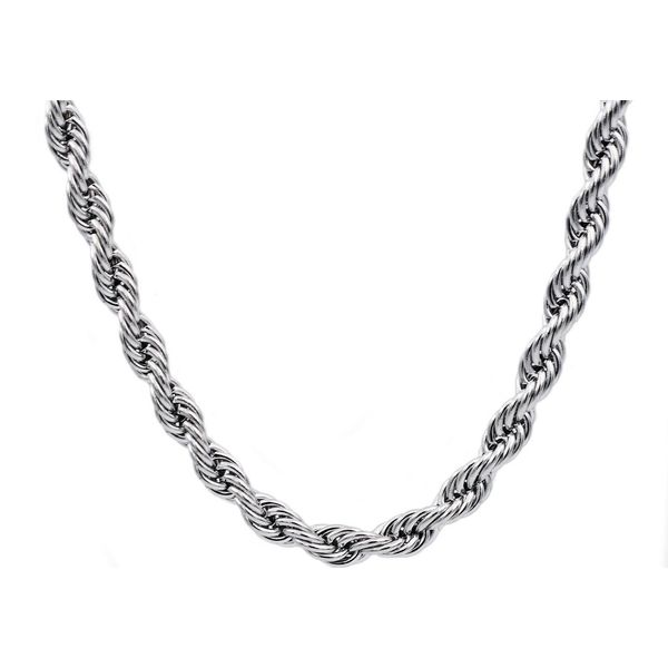 Stainless Steel 8mm Rope Chain, 24