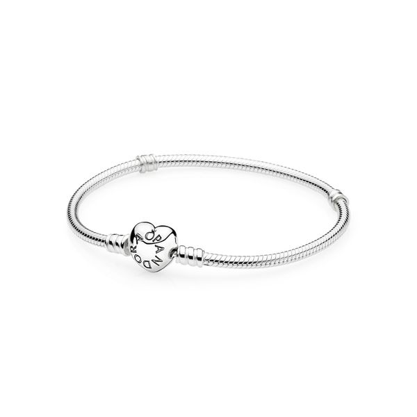 MOMENTS HEART & SNAKE CHAIN BRACELET Arezzo Jewelers Chicago, IL