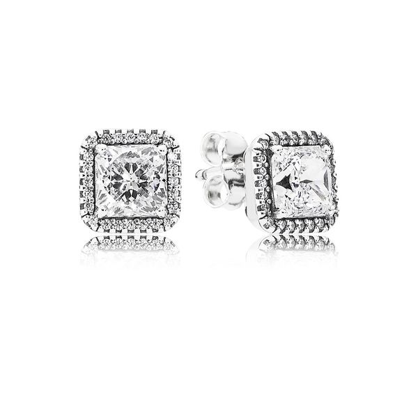 Timeless Elegance Stud Earrings, Clear CZ Arezzo Jewelers Chicago, IL