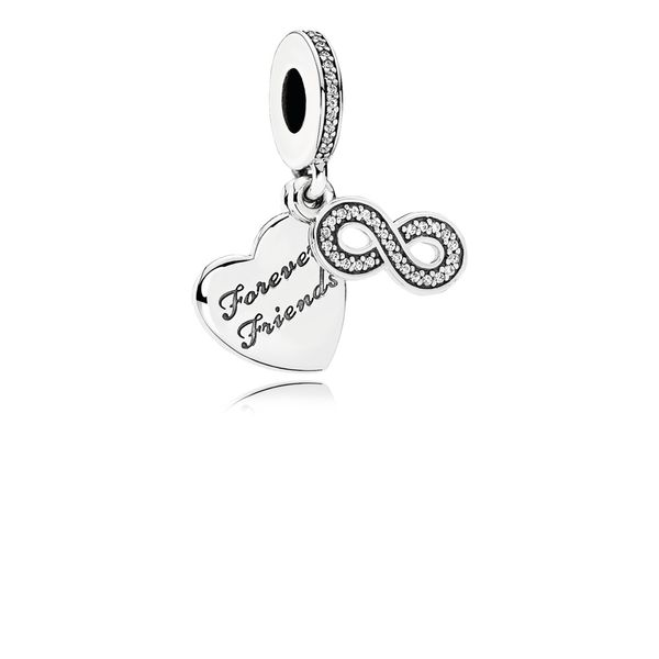 Forever Friends Dangle Charm, Clear CZ Arezzo Jewelers Chicago, IL